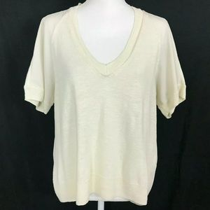Banana Republic Silk Blend  Ivory Blouse Casual M